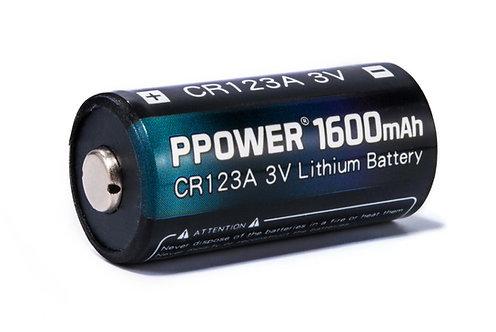 Ppower 一次性電池1600mAh CR123A 3V鋰電池(專業版)(不可充電)