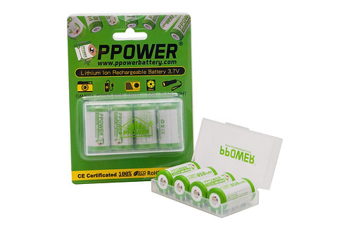2X 18350 IMR 3.7V 850毫安 10A 鋰離子充電電池