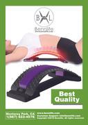 Bennlife賓尼生活 腰椎間盤突出腰椎牽引器 /駝背糾正/ 挺腰器/腰椎間盤矯形器(紫色, 1件)