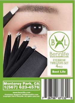Bennlife賓尼生活 不銹鋼眉毛套裝4件