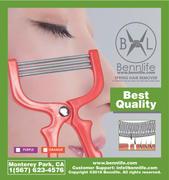 Bennlife賓尼生活 彈簧除毛器,可去除臉毛、唇毛及手毛 (1件)