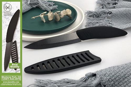 Bennlife賓尼生活 4寸陶瓷水果刀 (黑色)