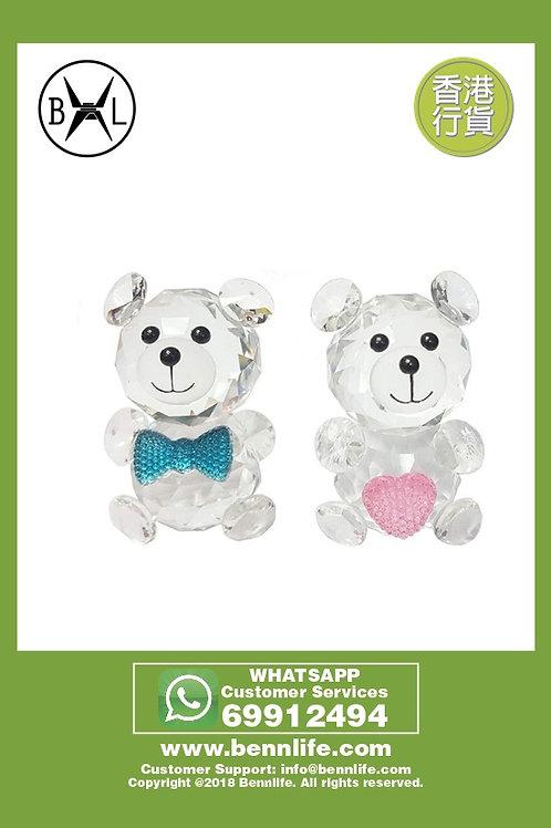 Bennlife 賓尼生活 可愛小熊公仔水晶一對, 收藏品 飾品 (一對裝)