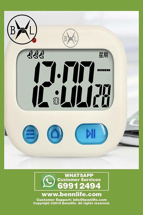 Bennlife賓尼生活  多功能震動式計時器鬧鐘- (淺黃色)