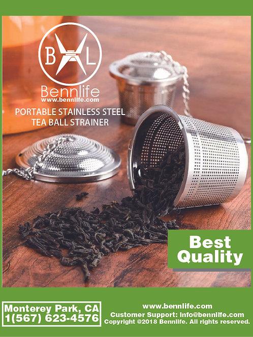 Bennlife賓尼生活 不銹鋼桶形茶葉過濾器