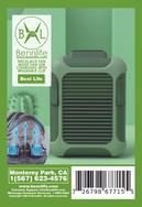 Bennlife賓尼生活 4000mah電池掛腰掛頸風扇USB充電 附帶腰夾(綠色)
