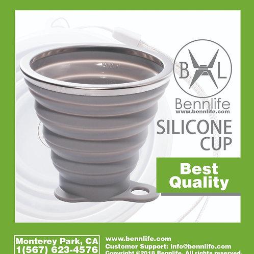 Bennlife賓尼生活  便攜式矽膠伸縮摺疊杯270ml
