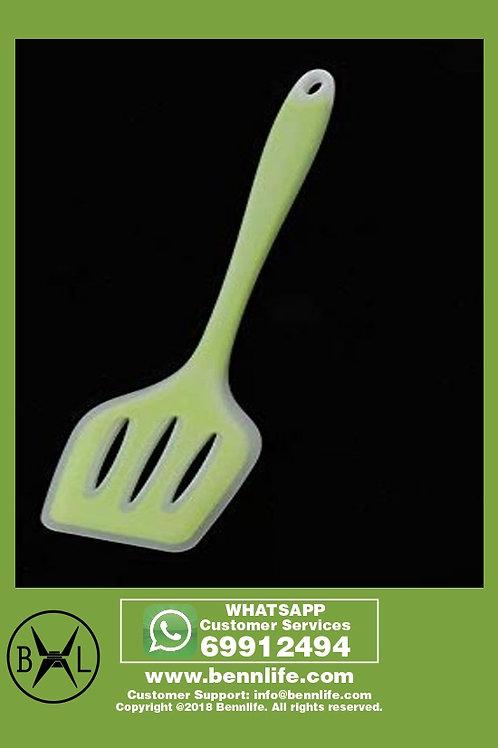 Bennlife賓尼生活 綠色,半透明不貼鍋鏟烹飪用具 (大漏鏟, A款)