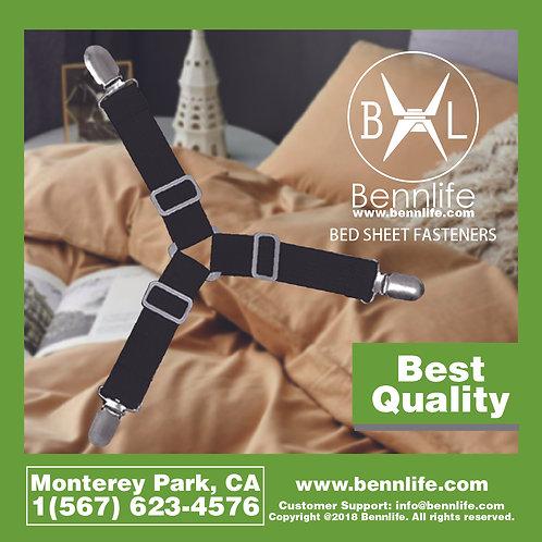 Bennlife賓尼生活 三角形床單緊固夾-防止床單鬆脫(黑色)