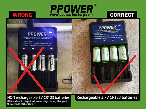 Ppower NON rechargeable & Rechargeable F