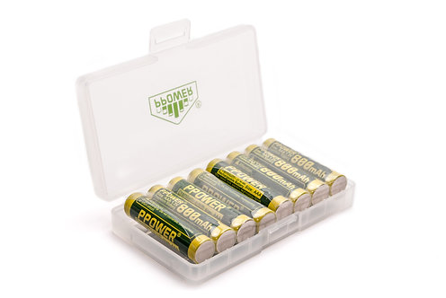 Ppower - 1x 8槽 AAA 1.2V可充電鎳氫電池盒(不包括電池)