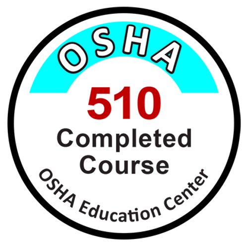 OSHA-510 Class completion sticker