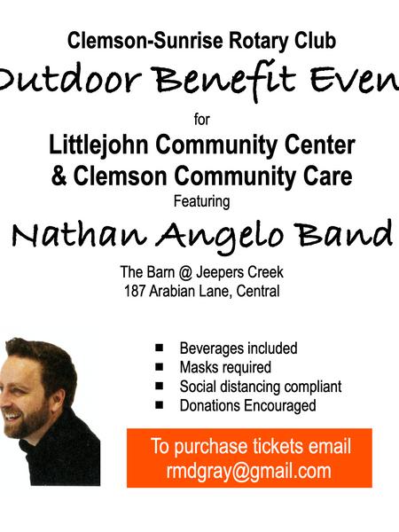 Clemson-Sunrise Rotary Club Benefit Concert