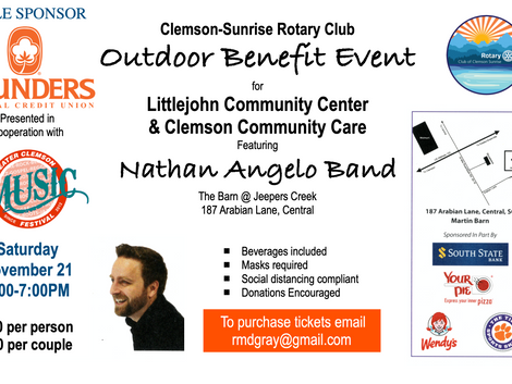 Clemson-Sunrise Rotary Club Benefit Concert