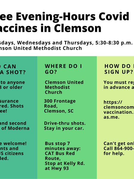 City of Clemson Launches Community Vaccination Clinic
