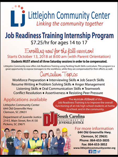 2018 Fall Job Readiness Program