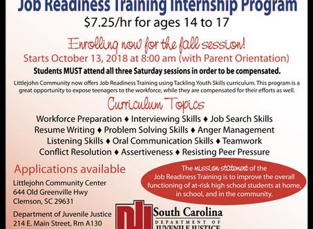 2018 Fall Job Readiness Program