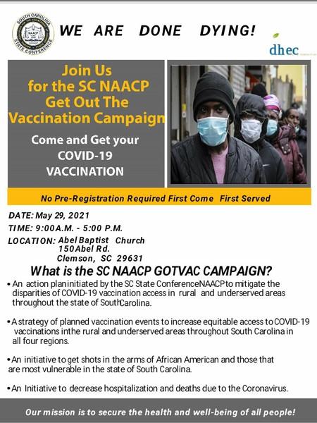 SC NAACP COVID-19 Vaccine Campaign