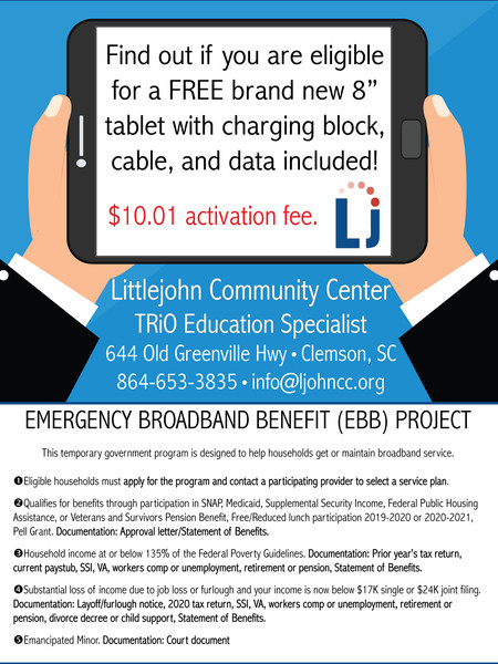 Littlejohn Community Center offers technology benefit to the community!