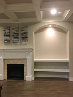 Mantel with Floating Shelves