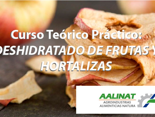 CURSO DE DESHIDRATADO DE FRUTAS Y HORTALIZAS