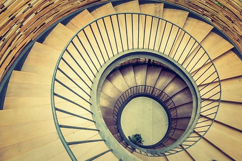 hypnosis-swirl-stairs-abstract-interior_