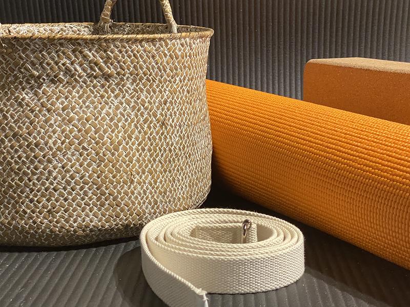 Yoga Mat Strap and Basket