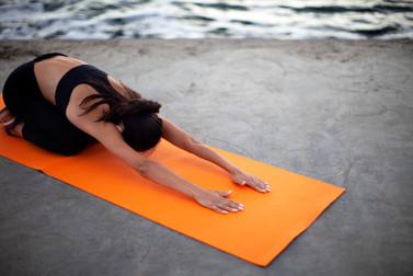 Girl on Yoga Mat