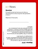 Jeu diversité - Carte News