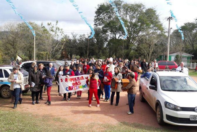 Romaria reuniu centenas de fiéis no domingo. Foto: divulgação