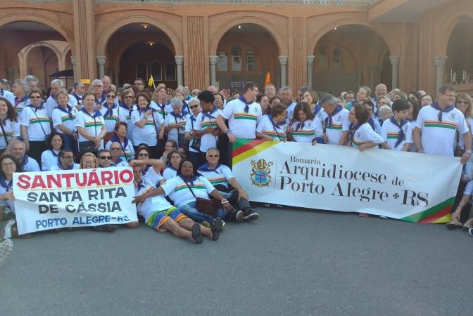 Parte do grupo que participou da Romaria. Foto: Lélia Ferreira