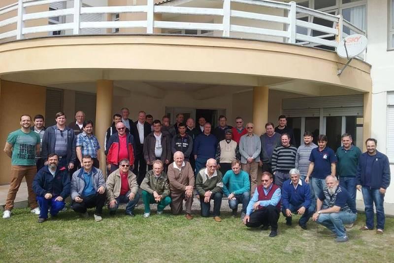 Padres estão reunidos desde o dia 29 em Cidreira. Foto: Pe. Maurício Jardim