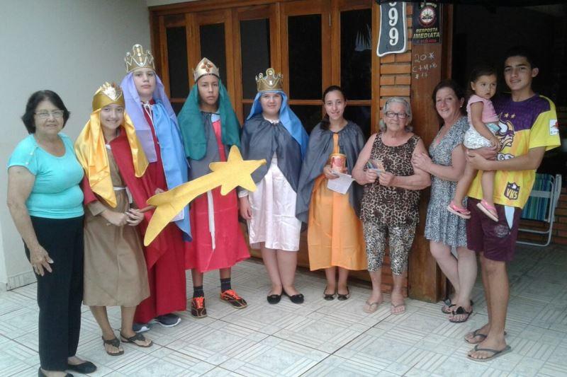 Três grupos estão visitando a comunidade de Arroio dos Ratos. Foto: divulgação paróquia Santa Bárbara