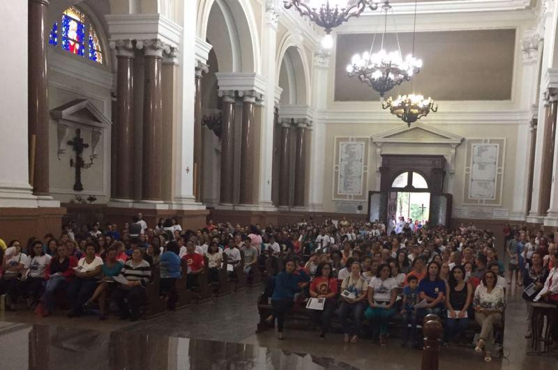 Missa reuniu cerca de mil catequistas no último domingo. Foto: divulgação IVC