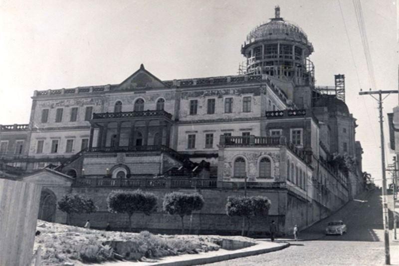 Cúria Metropolitana em 1955. Foto: Arquivo Histórico da Arquidiocese de Porto Alegre