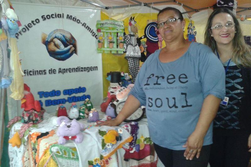 Projetos sociais de Esteio expuseram os trabalhos na Expointer. Foto: divulgação Serviço Social