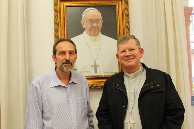 Padre Cirineu Furlanetto e Dom Jaime Spengler. Foto: Amanda Fetzner Efrom