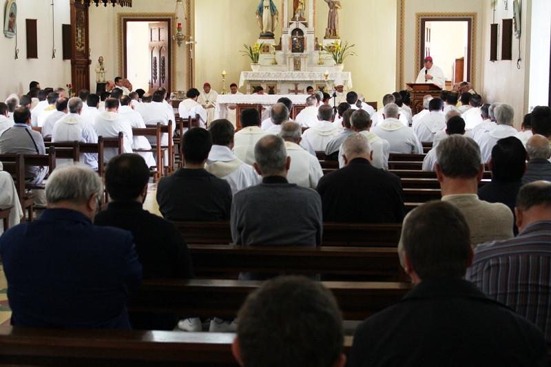 A segunda-feira foi reservada para a oração, lazer e confraternização do clero arquidiocesano. Foto: Amanda Fetzner Efrom