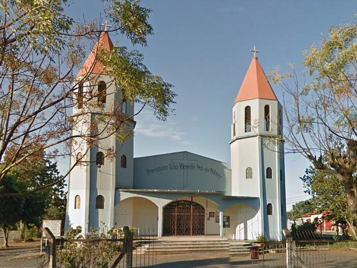 Paróquia fica no Rua Marco Polo, 699, no bairro São Vicente. Foto: reprodução