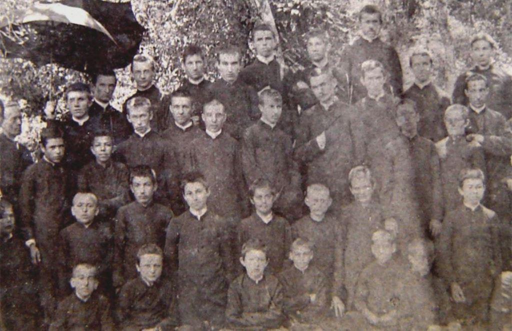 Passeio de seminaristas em 1897