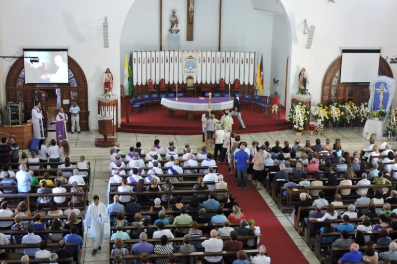 Exéquias ocorreram na Catedral de Cachoeira do Sul, no domingo. Foto: Diocese de Cachoeira do Sul