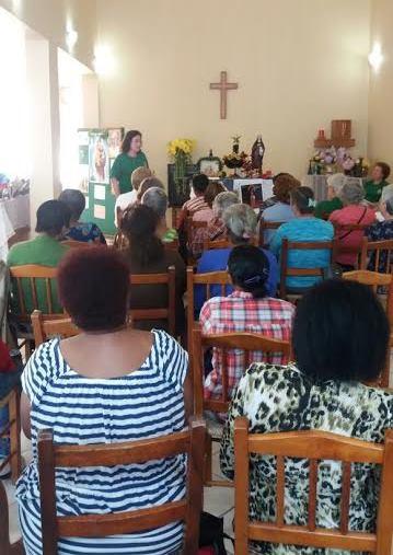 Grupo de idosos tem atividade sobre o Natal. Foto: divulgação Serviço Social