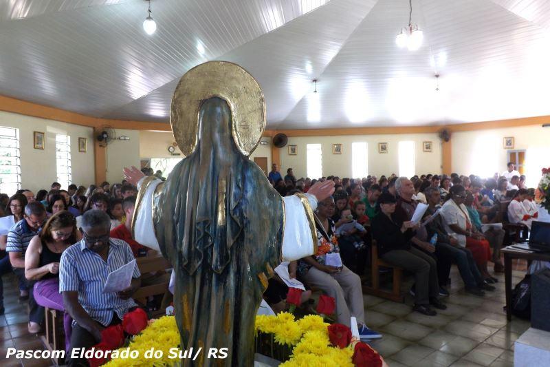 Missa lotou a Igreja Matriz de Eldorado do Sul. Foto: Pascom Eldorado do Sul