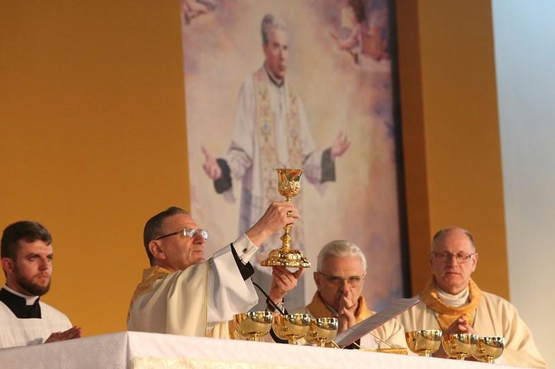 Cardeal Angelo Amato na beatificação de Pe. João Schiavo, em Caxias do Sul. Foto: Luiz Chaves/Palácio Piratini