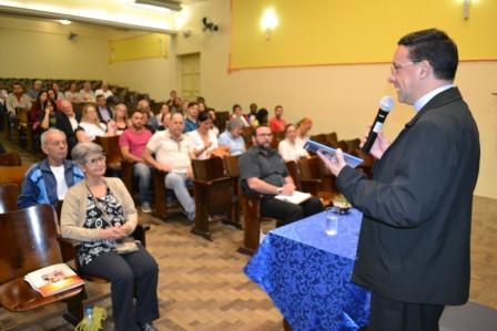 Dom Leomar foi um dos palestrantes. Foto: divulgação