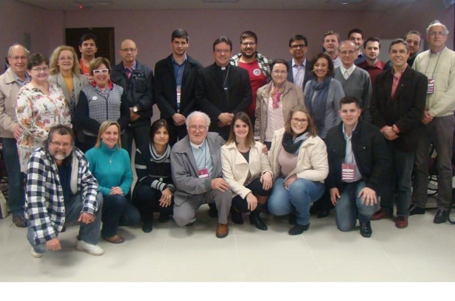 Representantes de 12 dioceses gaúchas se reuniram nesta segunda-feira. Foto: Judinei Vanzeto, CNBB Sul 3