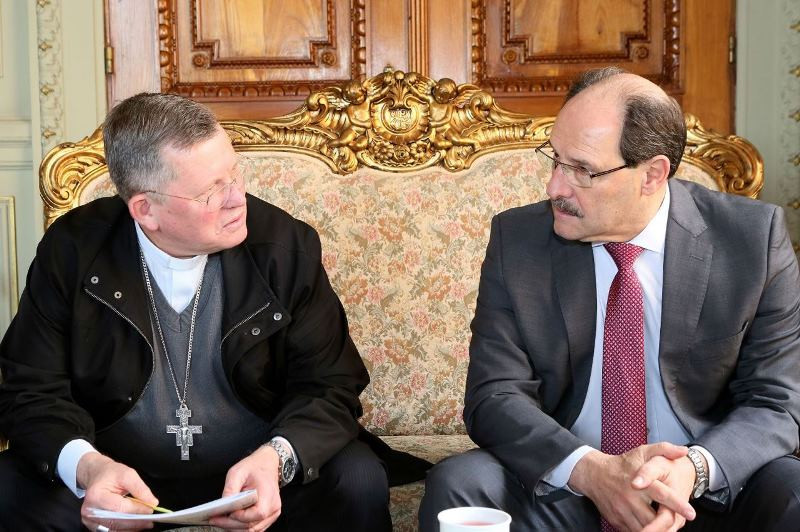 Dom Jaime Spengler e o governador José Ivo Sartori. Foto: Luiz Chaves, Palácio Piratini
