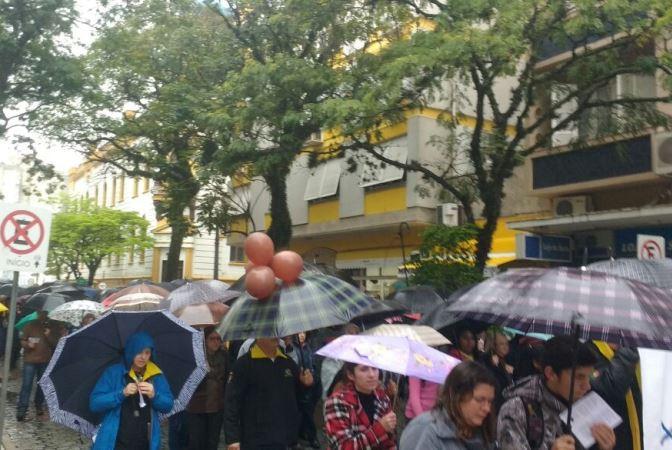 Encontro das Famílias ocorreu mesmo com chuva. Foto: Jessica Mathes