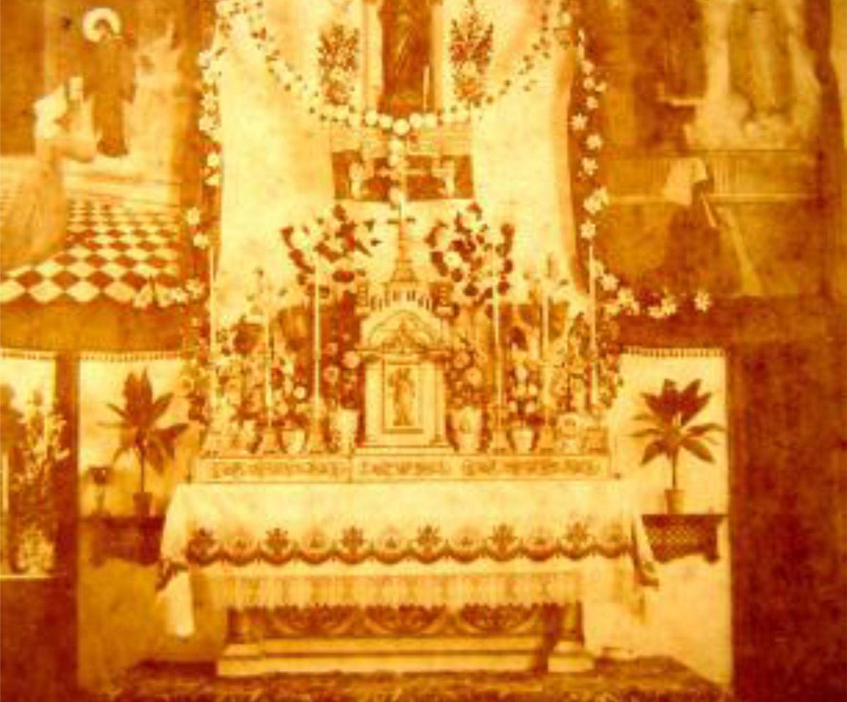 Altar da capela do Seminário em 1902