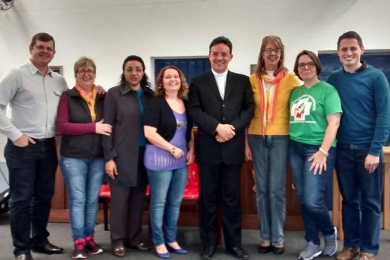 Parte da Comissão Arquidiocesana de Iniciação à Vida Cristã no último sábado. Foto: divulgação